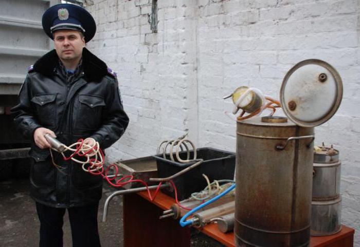 полиция и самогонный аппарат